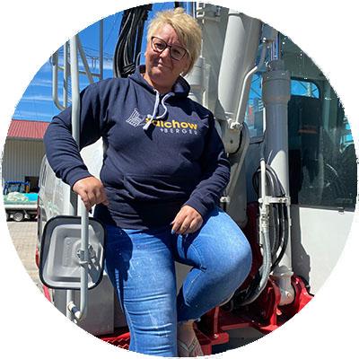 Helga Suess, Mitarbeiterin Werkstatt/Service der Firma Salchow & Berger Baubedarf GmbH in Altheim