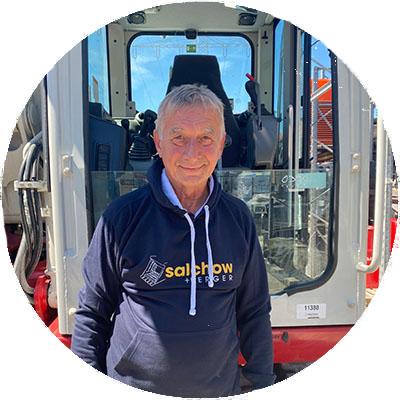 Klaus Kocanek, Fahrer der Firma Salchow & Berger Baubedarf GmbH in Altheim