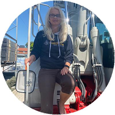 Sabine Splechna, Buchhaltungs-/Verwaltungsmitarbeiterin der Firma Salchow & Berger Baubedarf GmbH in Altheim