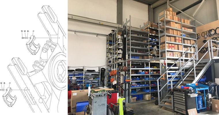 Lager der Firma Salchow & Berger Baubedarf GmbH in Altheim