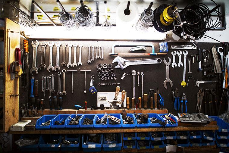 Werkstatt der Firma Salchow & Berger Baubedarf GmbH in Altheim