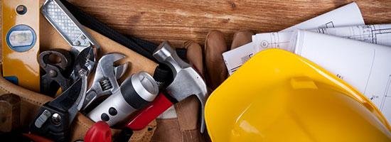 Werkzeuge der Firma Salchow & Berger Baubedarf GmbH in Altheim