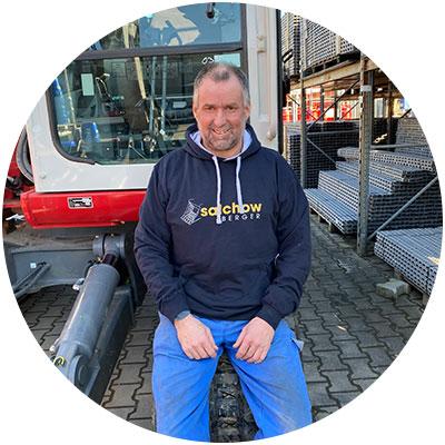 Alfred Faltermeier, Mitarbeiter Werkstatt/Service der Firma Salchow & Berger Baubedarf GmbH in Altheim