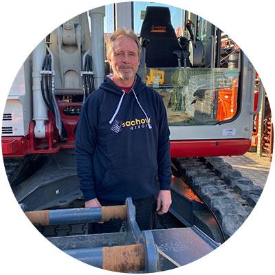 Karl Schmaderer, Mitarbeiter Werkstatt/Service der Firma Salchow & Berger Baubedarf GmbH in Altheim
