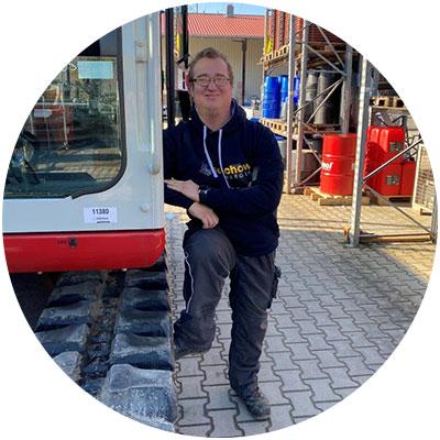 Mario Pfnür, Lagermitarbeiter der Firma Salchow & Berger Baubedarf GmbH in Altheim