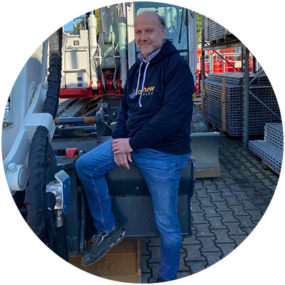 Roland Schmelzl, Mitarbeiter Verkauf der Firma Salchow & Berger Baubedarf GmbH in Altheim