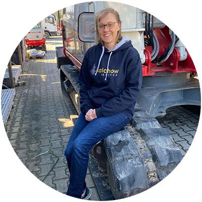 Sabine Obermeier, Buchhaltungs-/Verwaltungsmitarbeiterin der Firma Salchow & Berger Baubedarf GmbH in Altheim