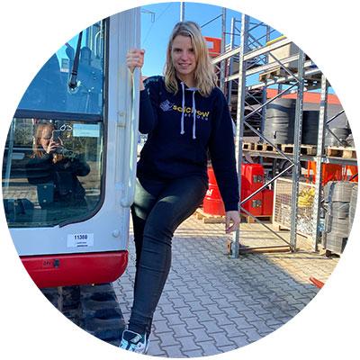 Sabine Fuchs, Mitarbeiterin Verkauf der Firma Salchow & Berger Baubedarf GmbH in Altheim