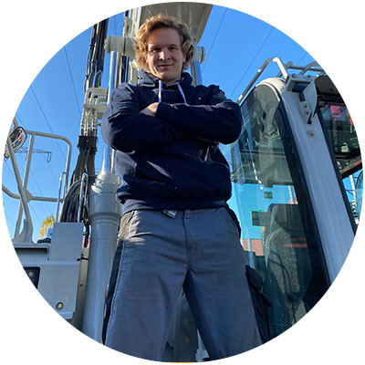 Leo Schäfer, Mitarbeiter Werkstatt/Service der Firma Salchow & Berger Baubedarf GmbH in Altheim