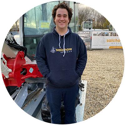 Sebastian Heindl, Lagermitarbeiter der Firma Salchow & Berger Baubedarf GmbH in Altheim