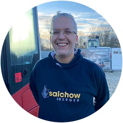 Stefan Bilberger, Mitarbeiter Verkauf der Firma Salchow & Berger Baubedarf GmbH in Altheim
