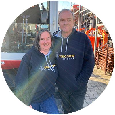 Peter und Sonja Salchow, Geschäftsführung der Firma Salchow & Berger Baubedarf GmbH in Altheim
